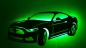 Preview: Ford Mustang - ca 100cm breit mit LED Farbwechsel-Beleuchtung
