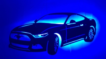 Ford Mustang - ca 100cm breit mit LED Farbwechsel-Beleuchtung